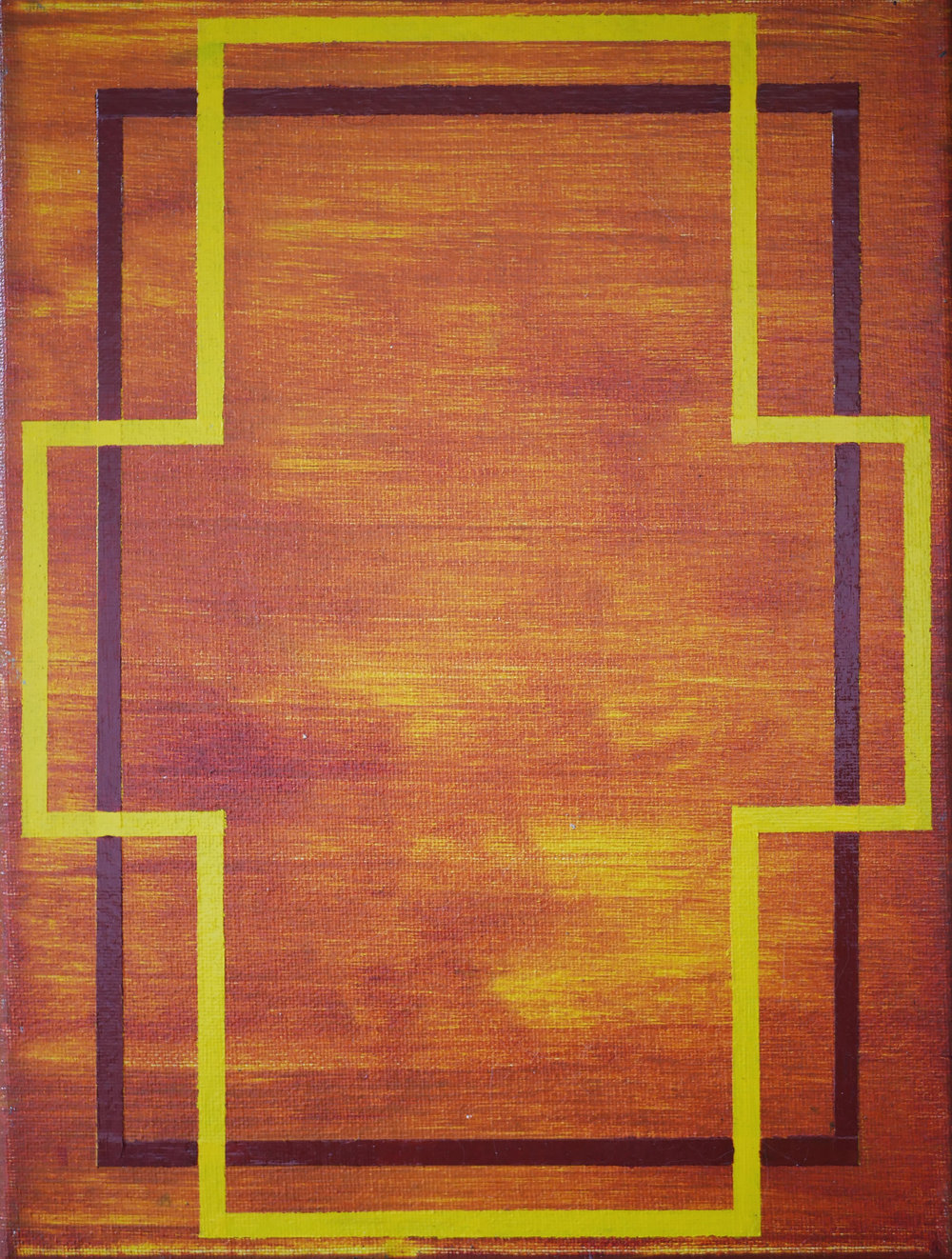 UNTITLED (Yellow Cross)   2013 Acrylic on canvas 14 x 11 in 35.56 x 27.9 cm