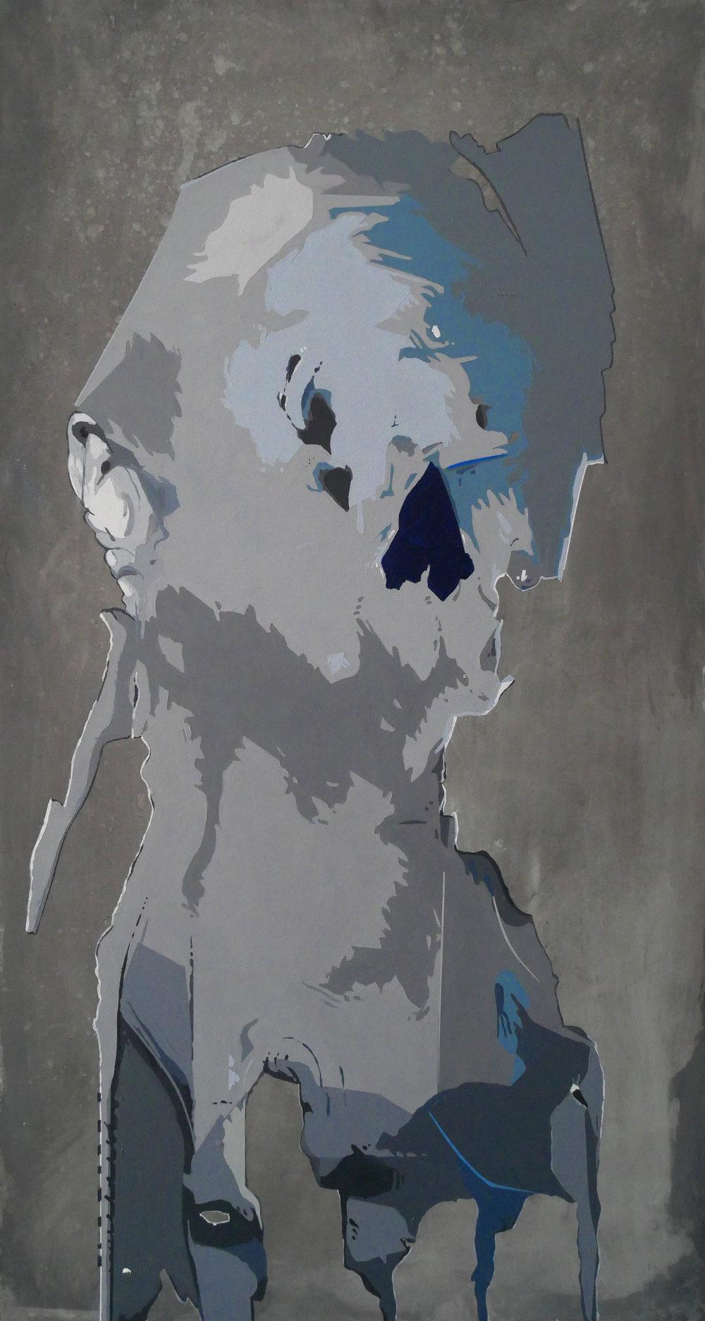 Phantom Study   2017 Acrylic on wood panel 24 x 12.8 in 61 x 32.5 cm