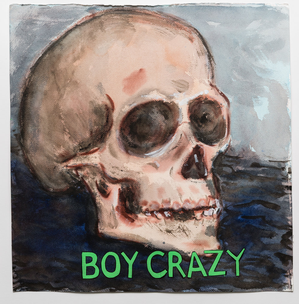 Boy Crazy  2015 watercolor, gouache and ink on paper, 2015