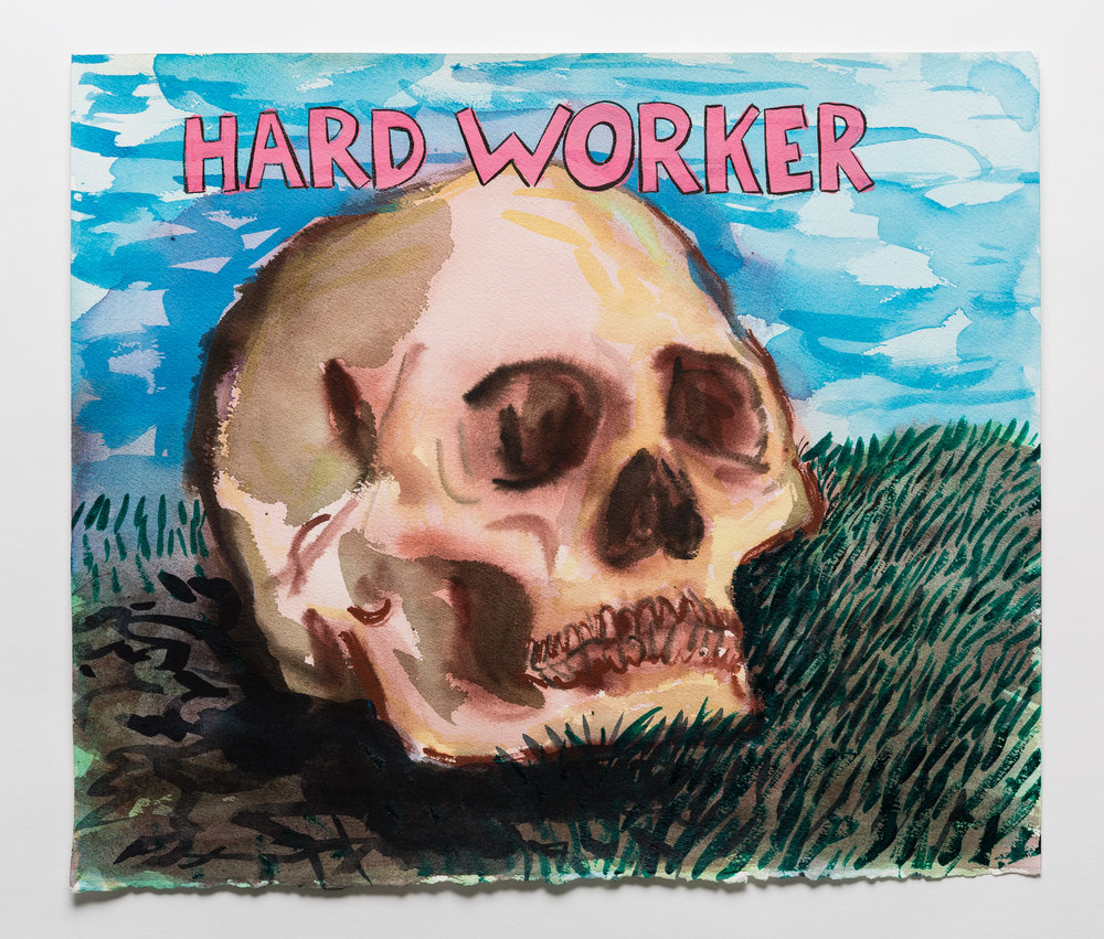 Hard Worker   2015 watercolor, gouache and ink on paper