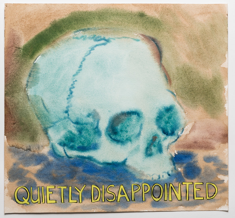 Quietly Disappointed   2015 watercolor, gouache and ink on paper 15x16""