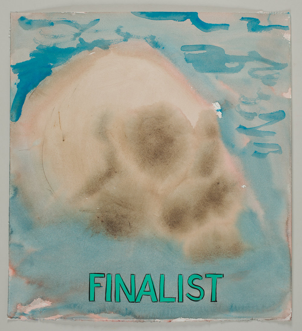 Finalist  2016 watercolor, gouache and ink on paper 16x15""