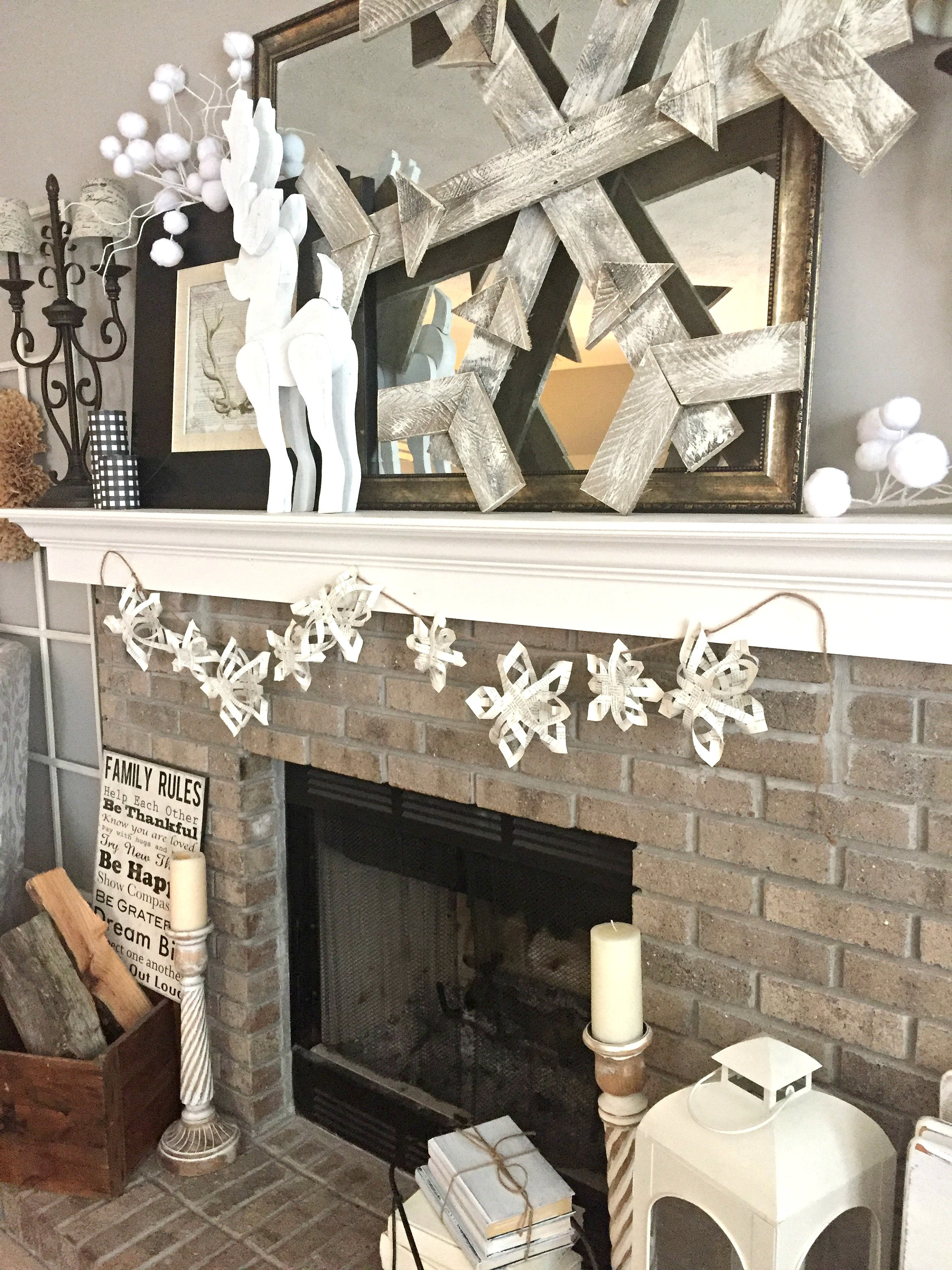 DIY 3D Paper Snowflake Garland - Tutorial — The Other Side of Neutral