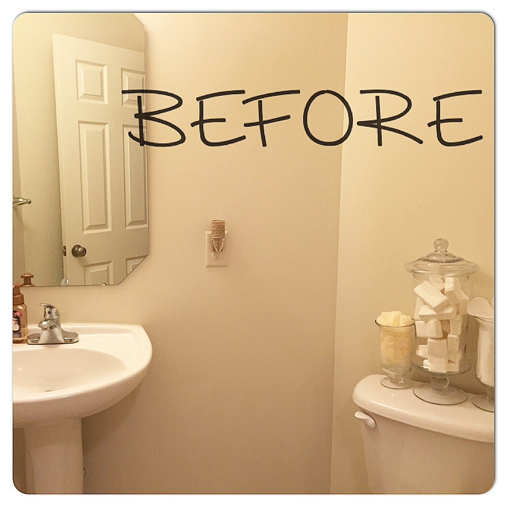 Powder Room Makeover — The Other Side of Neutral