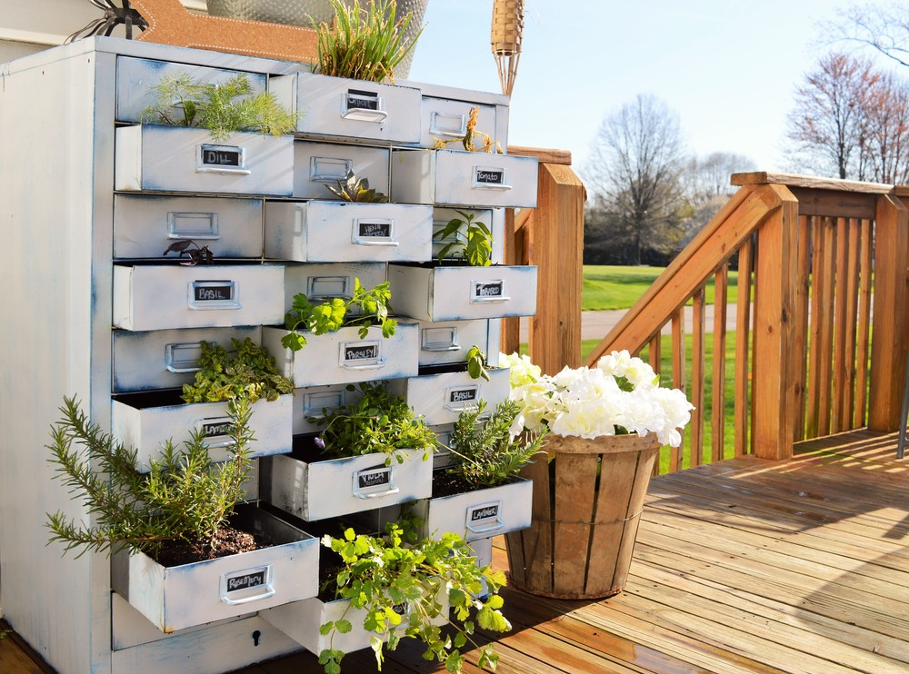 Outdoor Herb Garden ~ The Repurpose Design Series {Salvage Swagger}