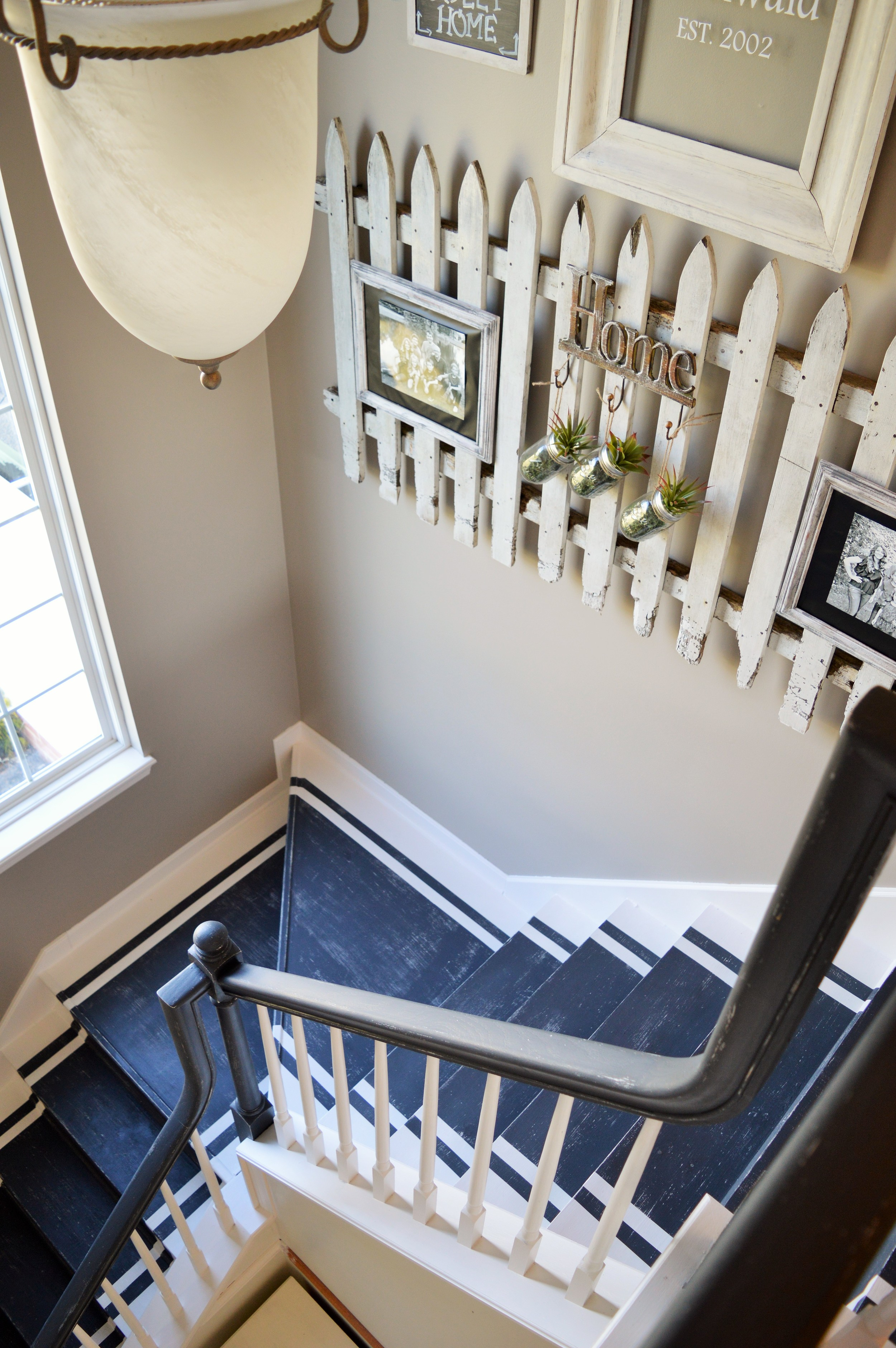 From drab to fab ~ diy staircase remodel — the other side of neutral