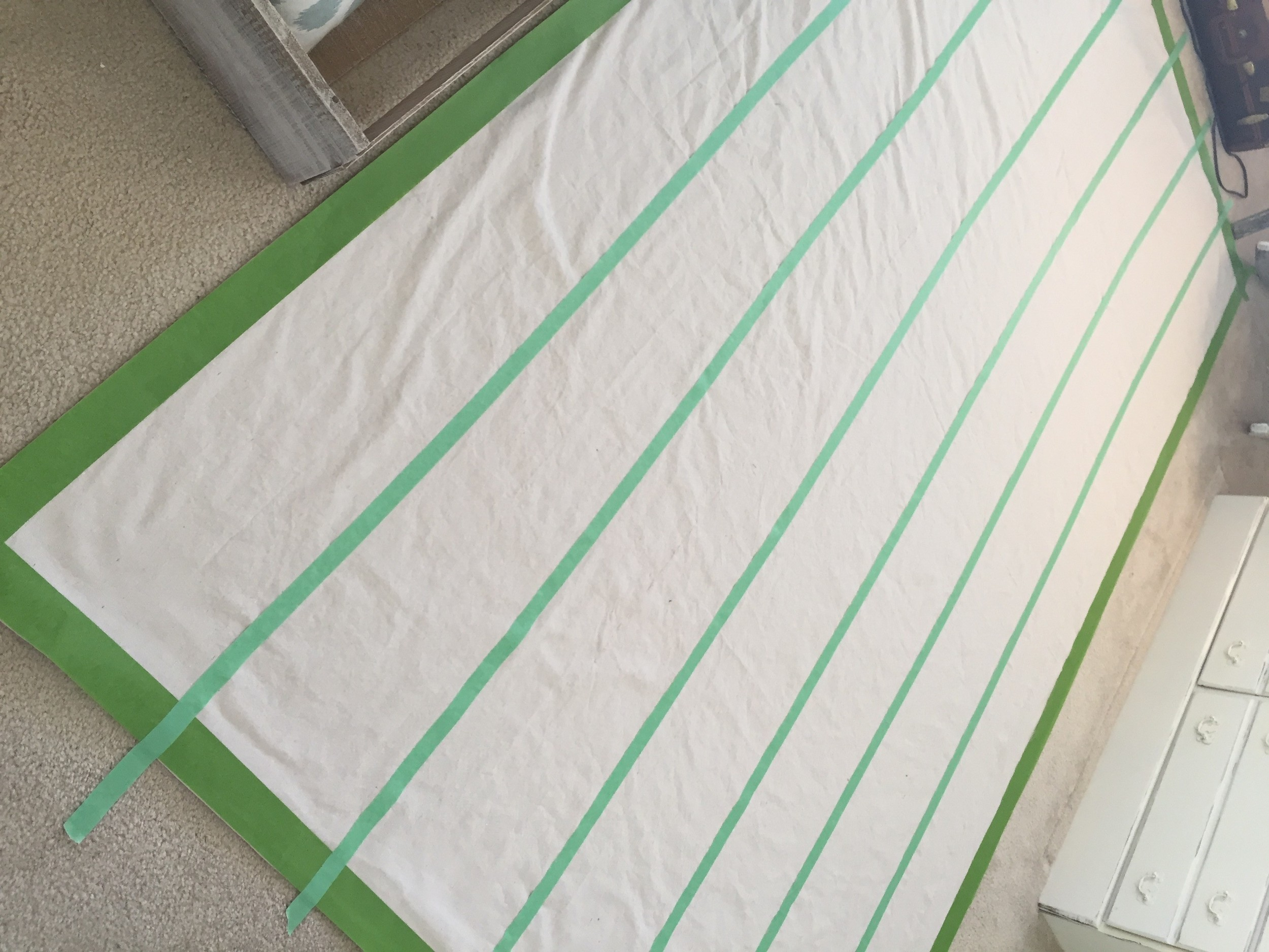 Painted Drop Cloth Rug Diy The Other Side Of Neutral