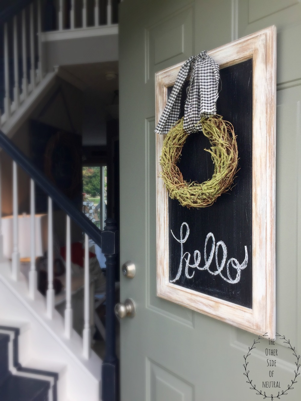 & Cabinet Door Turned Chalk Board \u2014 The Other Side of Neutral Pezcame.Com