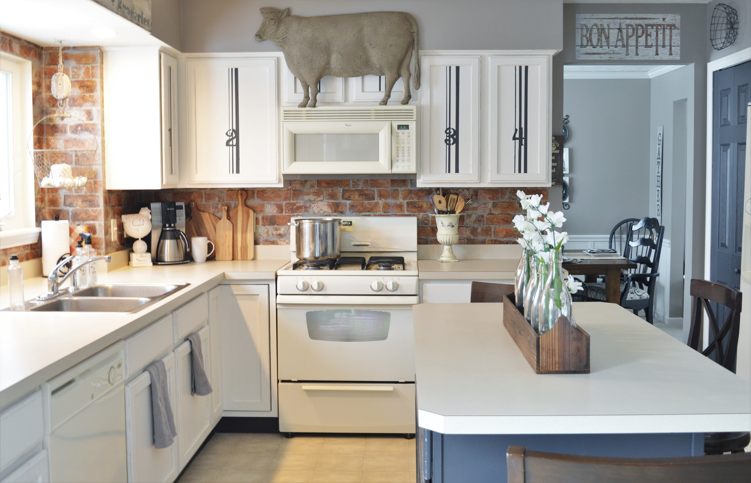 Painted Kitchen Cabinets Adding Farmhouse Character — The Other