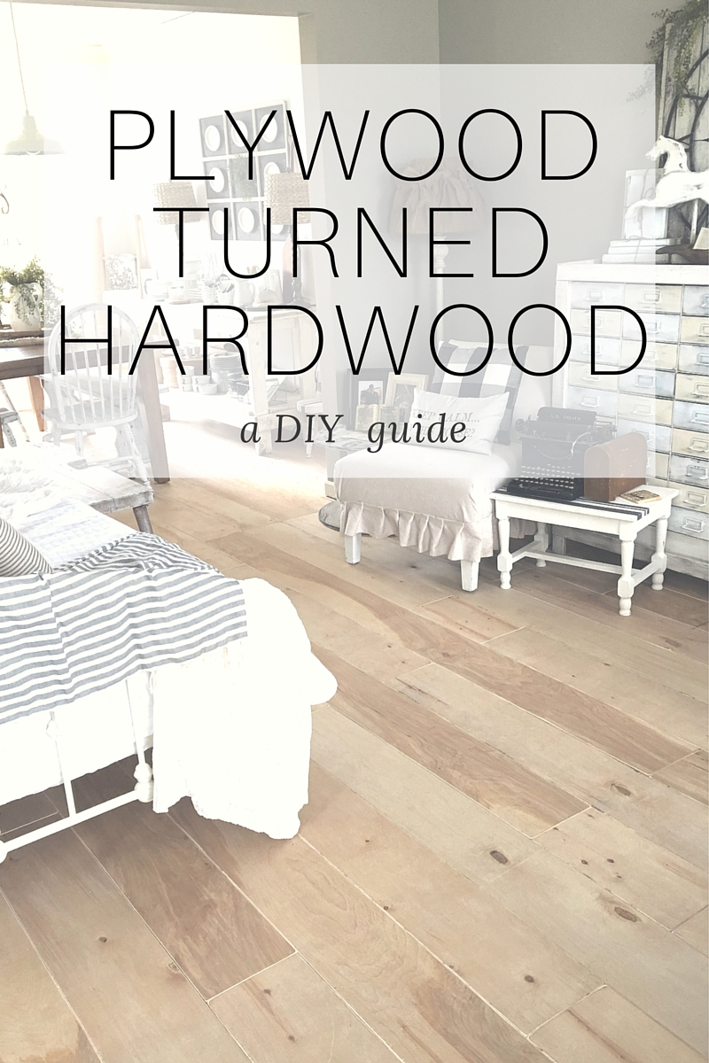 Plywood turned hardwood flooring diy the other side of for Cheap and easy flooring
