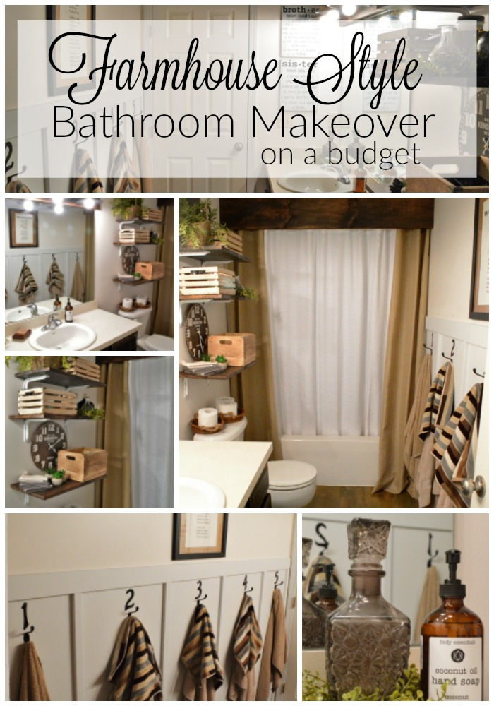 Farmhouse Style Bathroom Makeover On A Budget The Other Side Of Neutral