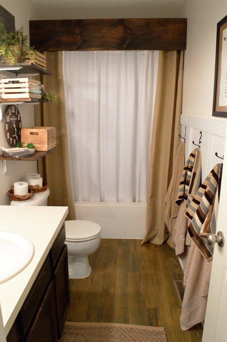 Farmhouse Style Bathroom Makeover On A Budget The Other Side Of - Diy bathroom makeover on a budget