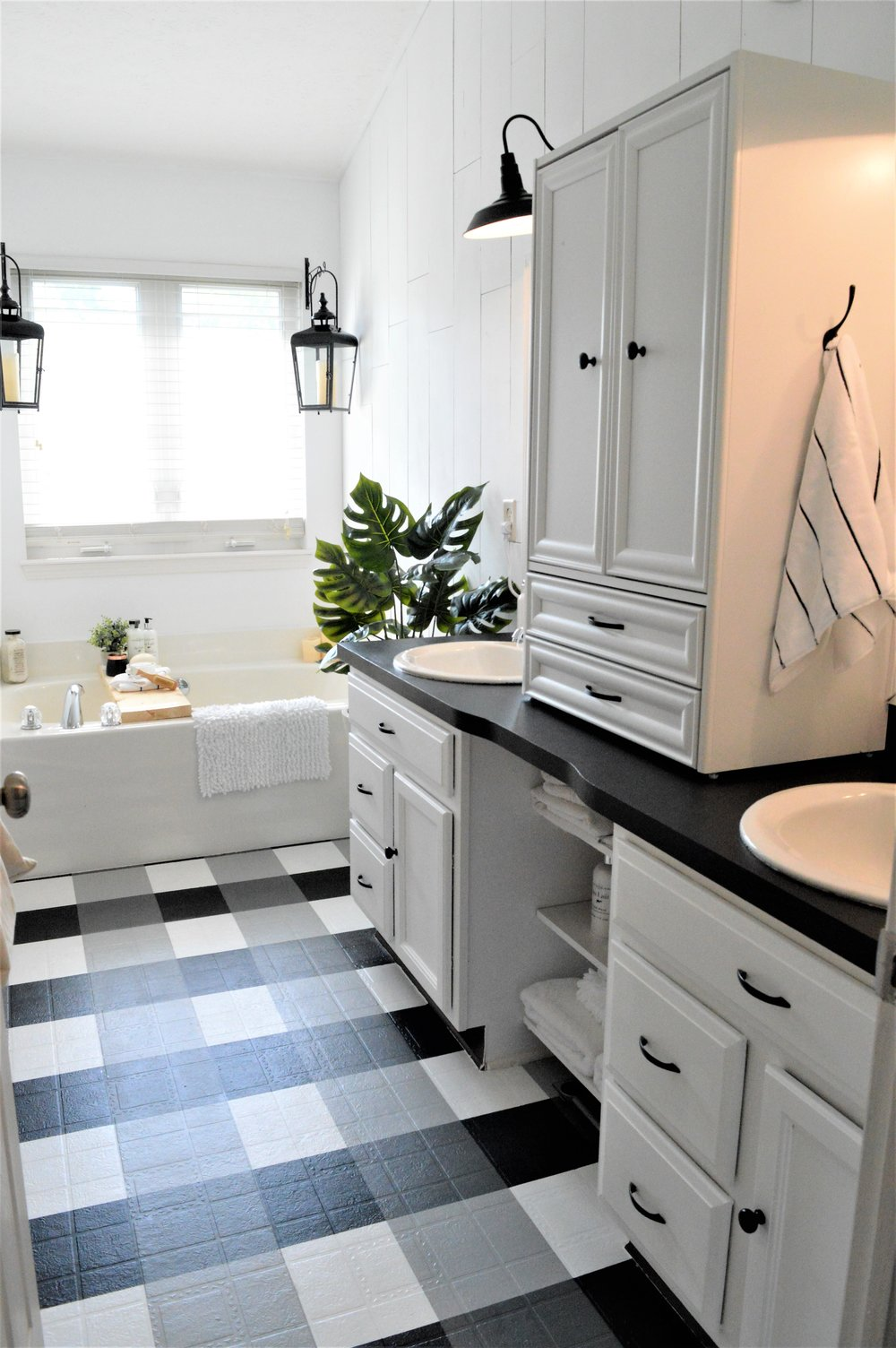 How To: Master the Modern Farmhouse Bathroom {under $500 ... on Modern Farmhouse Shower  id=30261