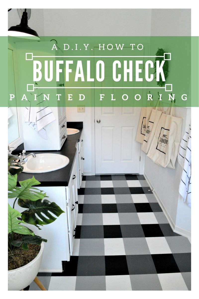 How To: Buffalo Check Painted Floor; A DIY Guide