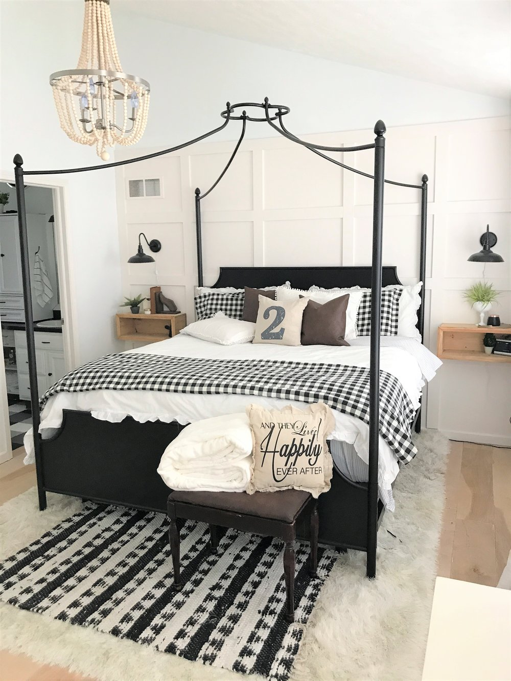I now love the view from the bedroom to the bathroom and vise versa the complete modern farmhouse vibe is just perfection to me