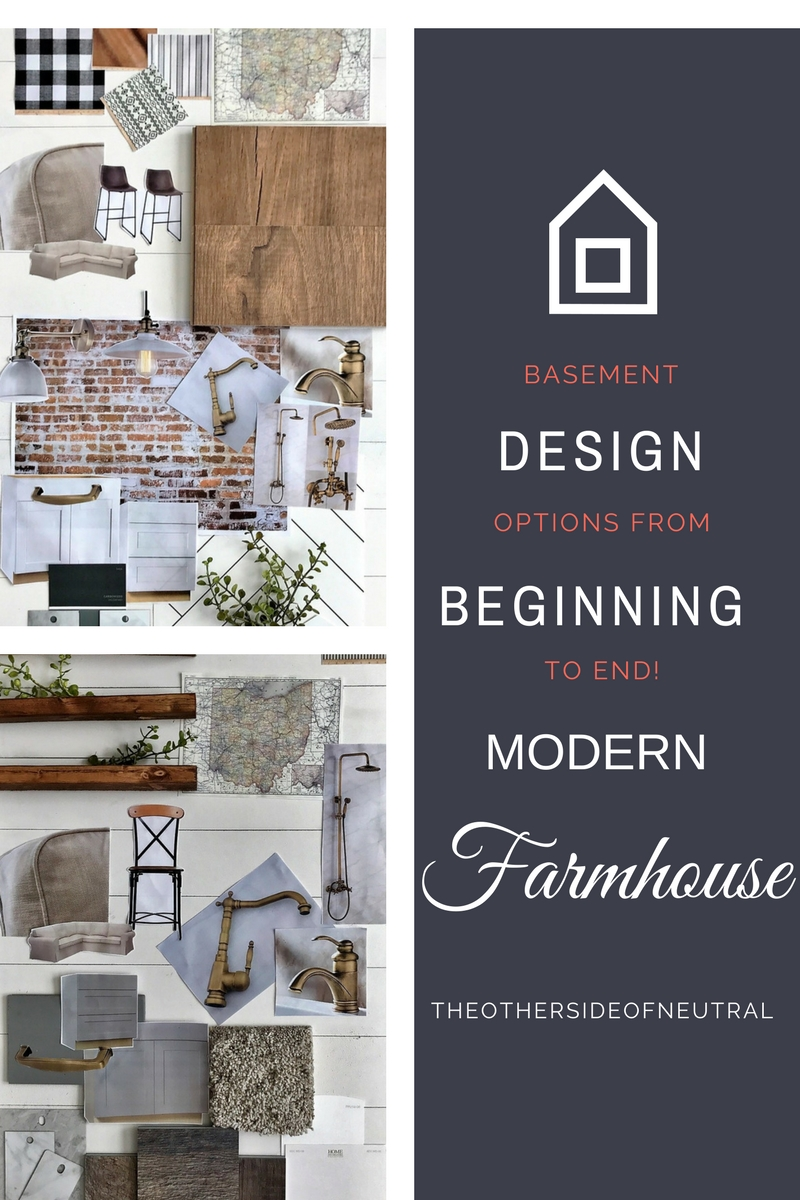 Basement Design Options Modern Farmhouse