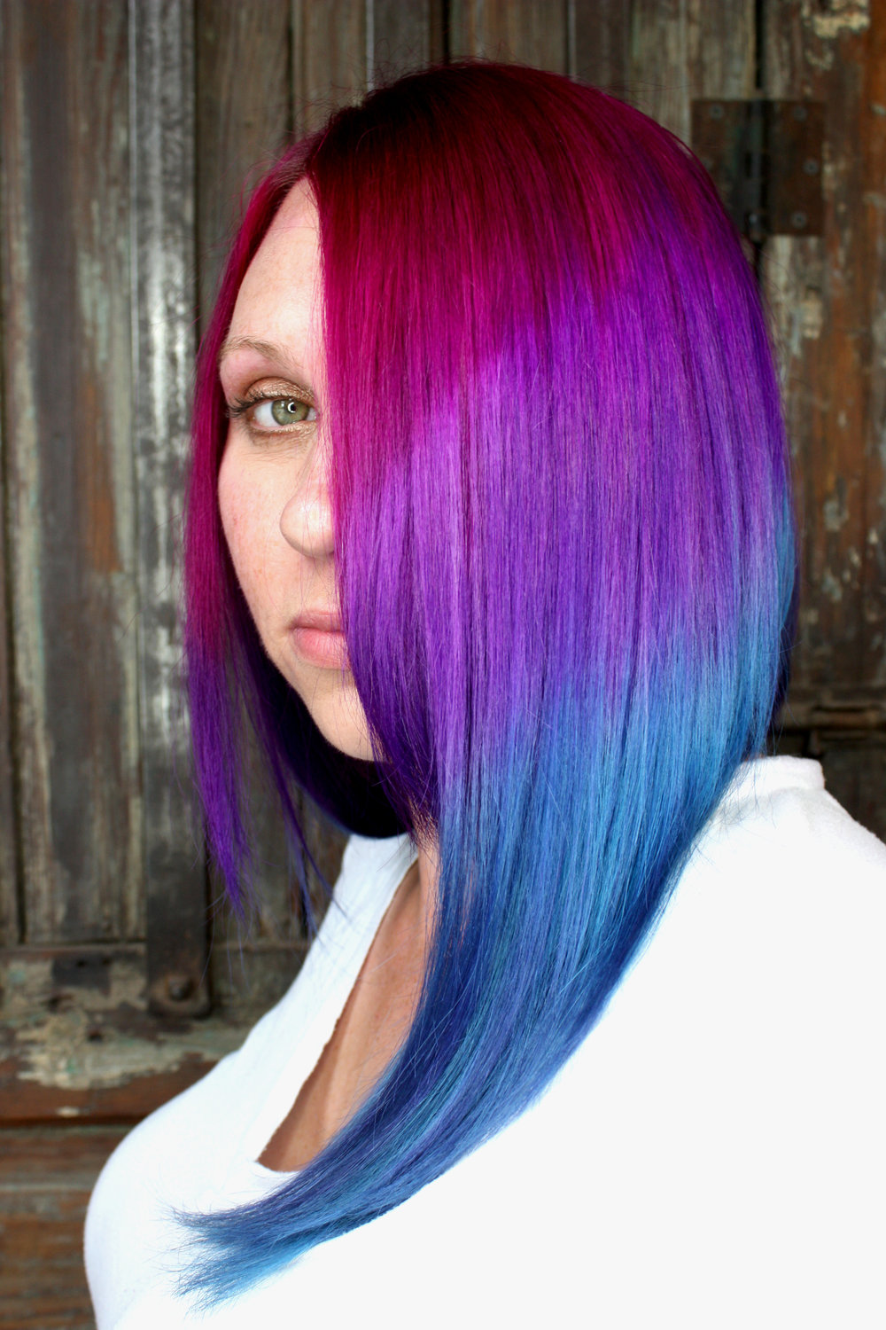 rainbow ombre hair