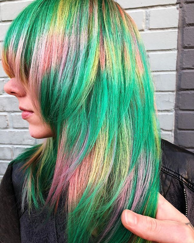 ⚡️Prismatic Shag⚡️used all @pulpriothair #jshermansalon #unicorntribe #behindthechair #modernsalon #atlhair #atlantahairstylist #atlantasalon #pulpriothair