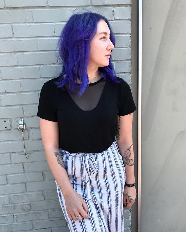 💜 #jshermansalon #unicorntribe #pulpriot #purplehair #atlhair #atlantahairstylist #atlanta #fantasyhair #mermaidhair #trends2018