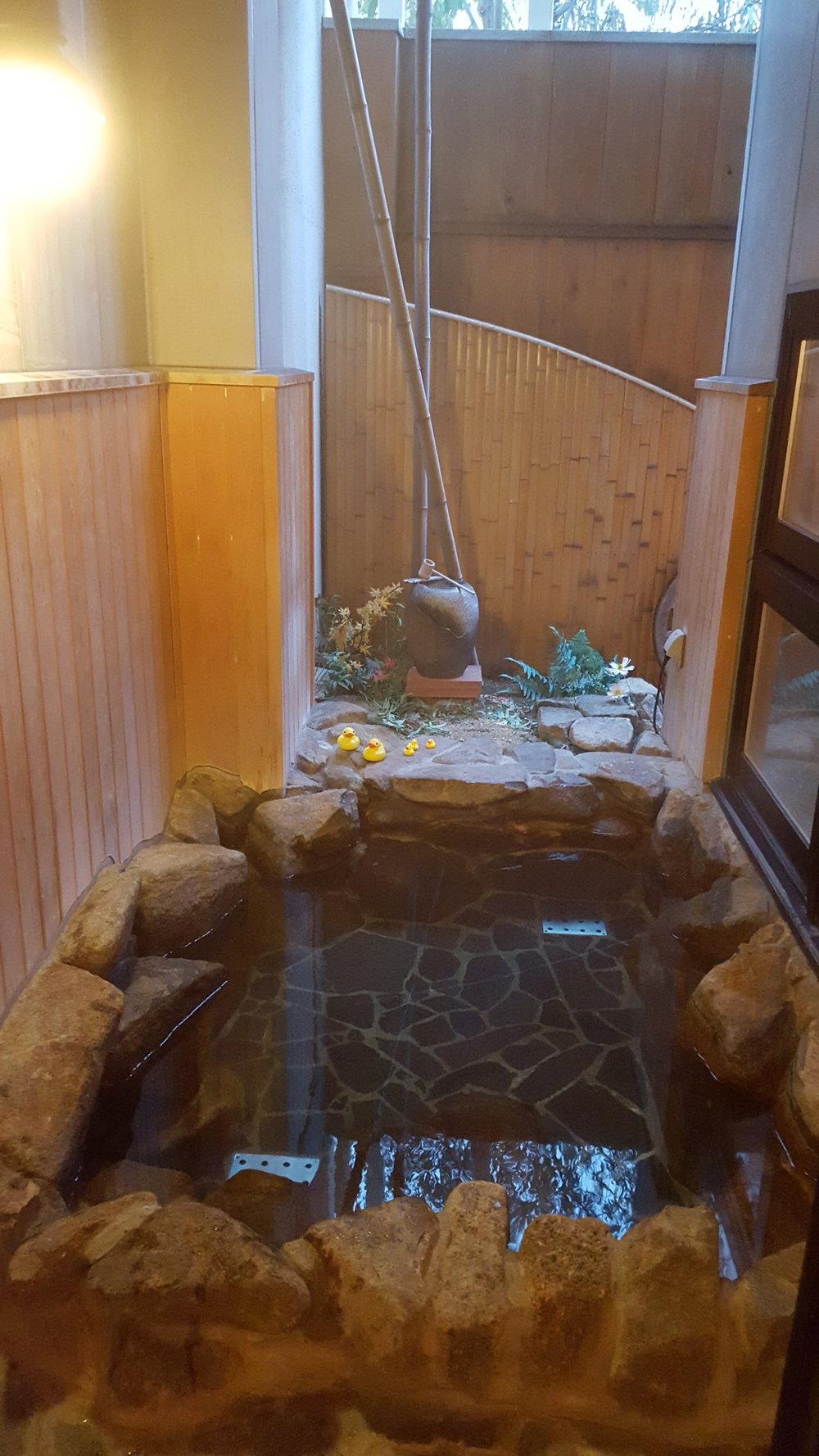 Small outdoor bath at a Ryokan