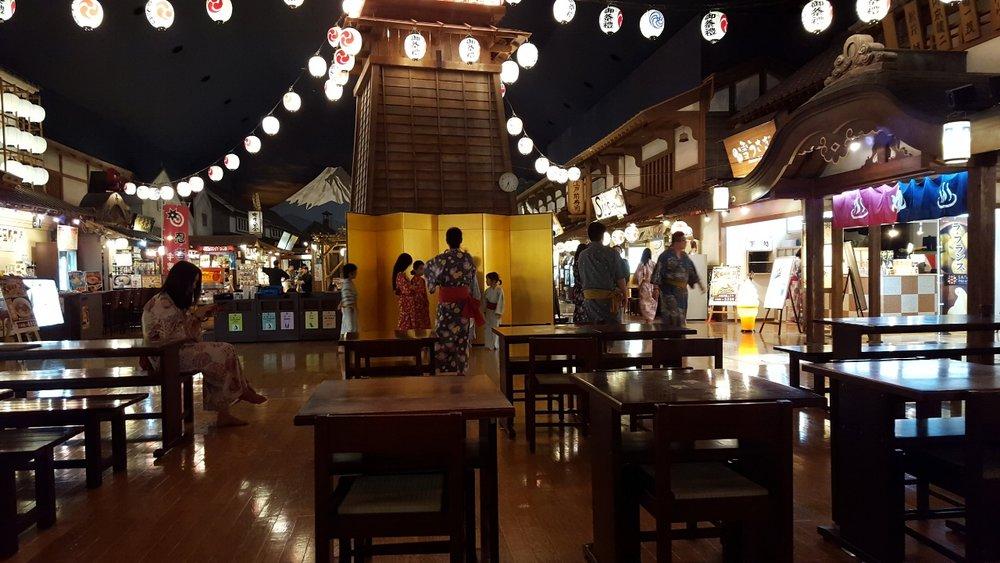 Oedo Onsen Monogatari, a commercial hot spring 'Onsen' in Odaiba