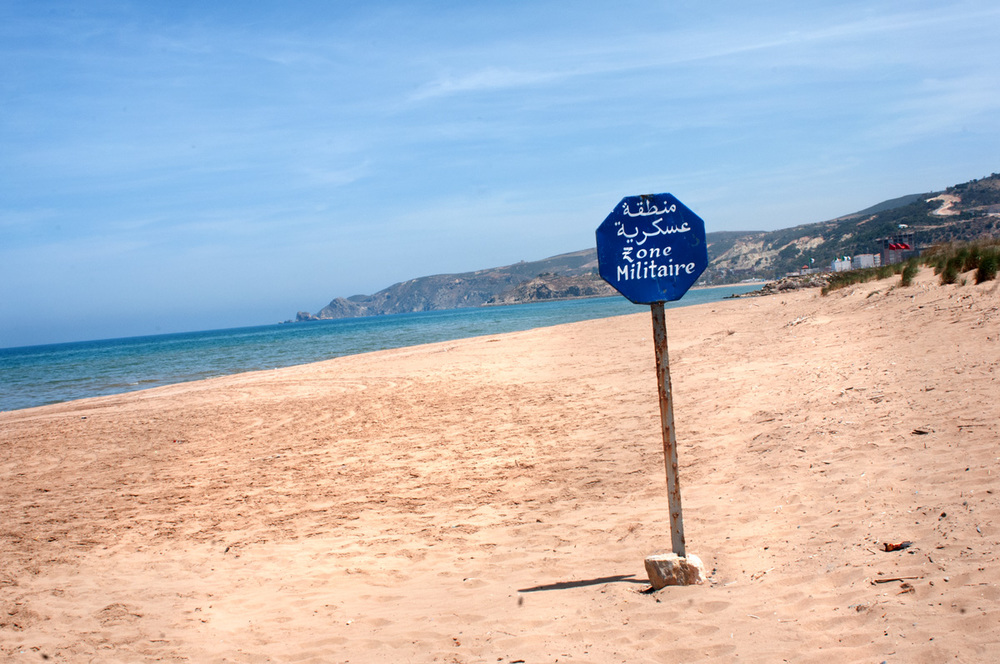 Morocco-Algeria border. Saïdia, Morocco.