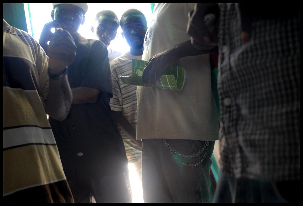Gamblers. Gonaïves, Haiti.