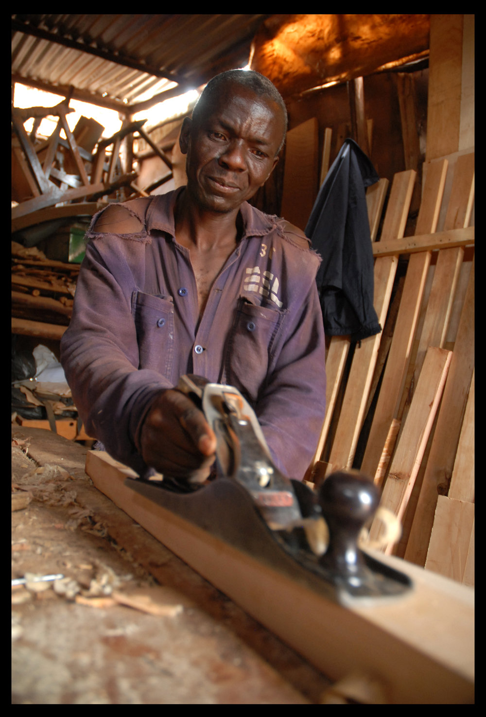 Wood Worker. Kibera, Kenya.