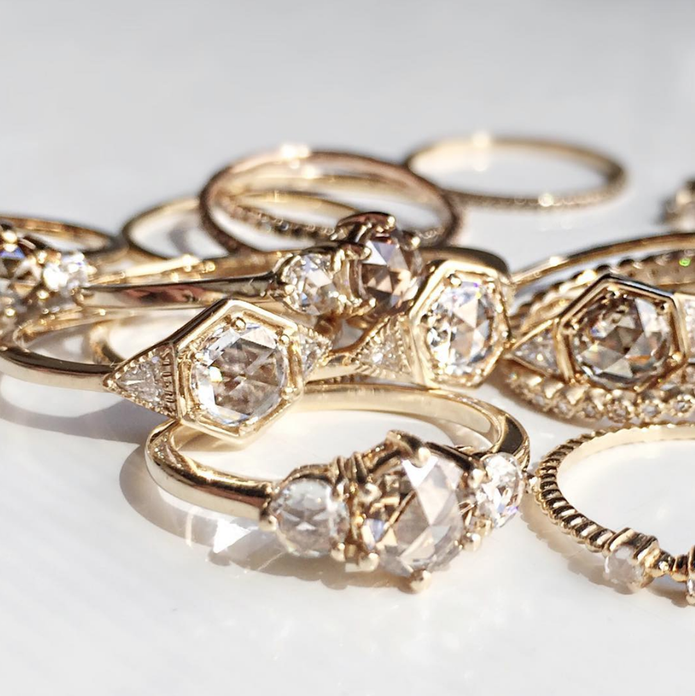 Delicate, simple & feminine - Inspired by vintage designs, Vale Jewelry creates stunning pieces that are handcrafted in New York City, using solid 14k gold and diamonds.