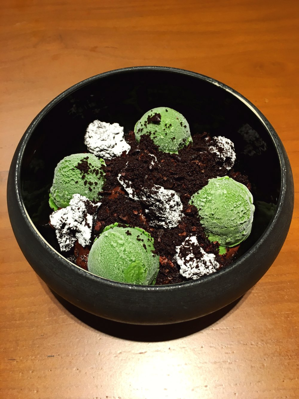 Cocoa 99 - ▽ Warm organic chocolate▽ Mint ice cream ▽ Browny Croutons