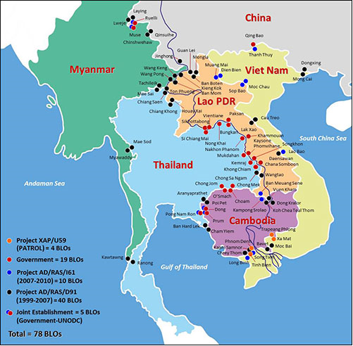 The training took place in Western Thailand, in a district called Mae Sot (see border of Thailand and Myanmar).