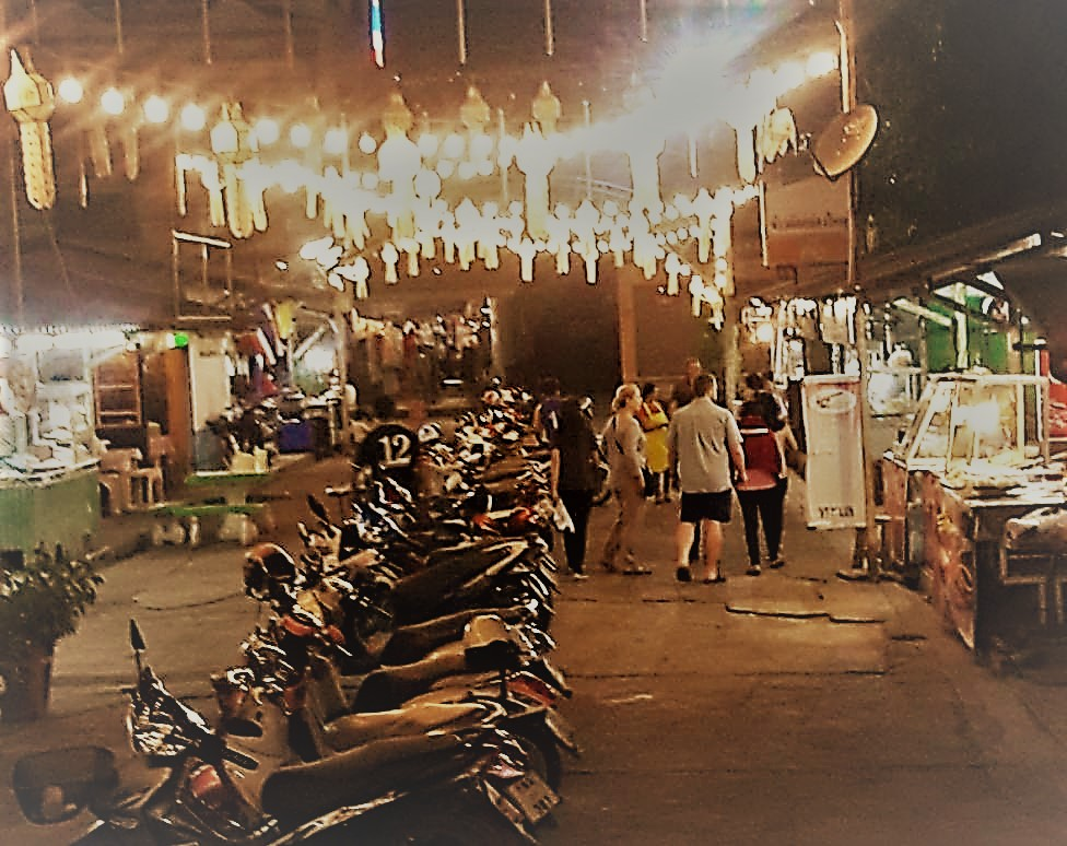 The night market in Mae Sot.
