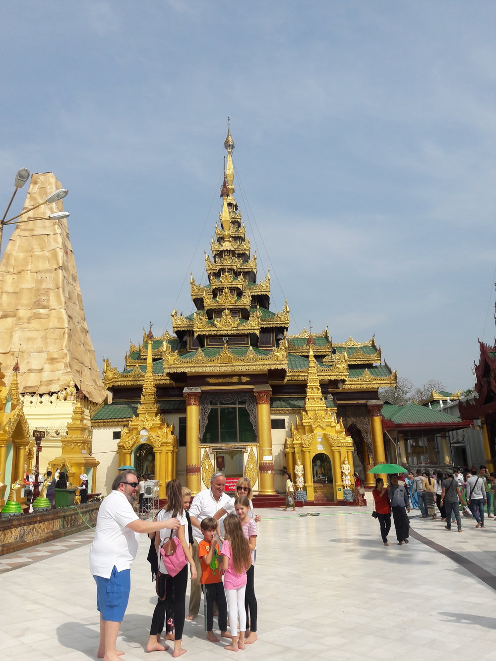 Outside view of the Shwedagon Pagoda in Burma.