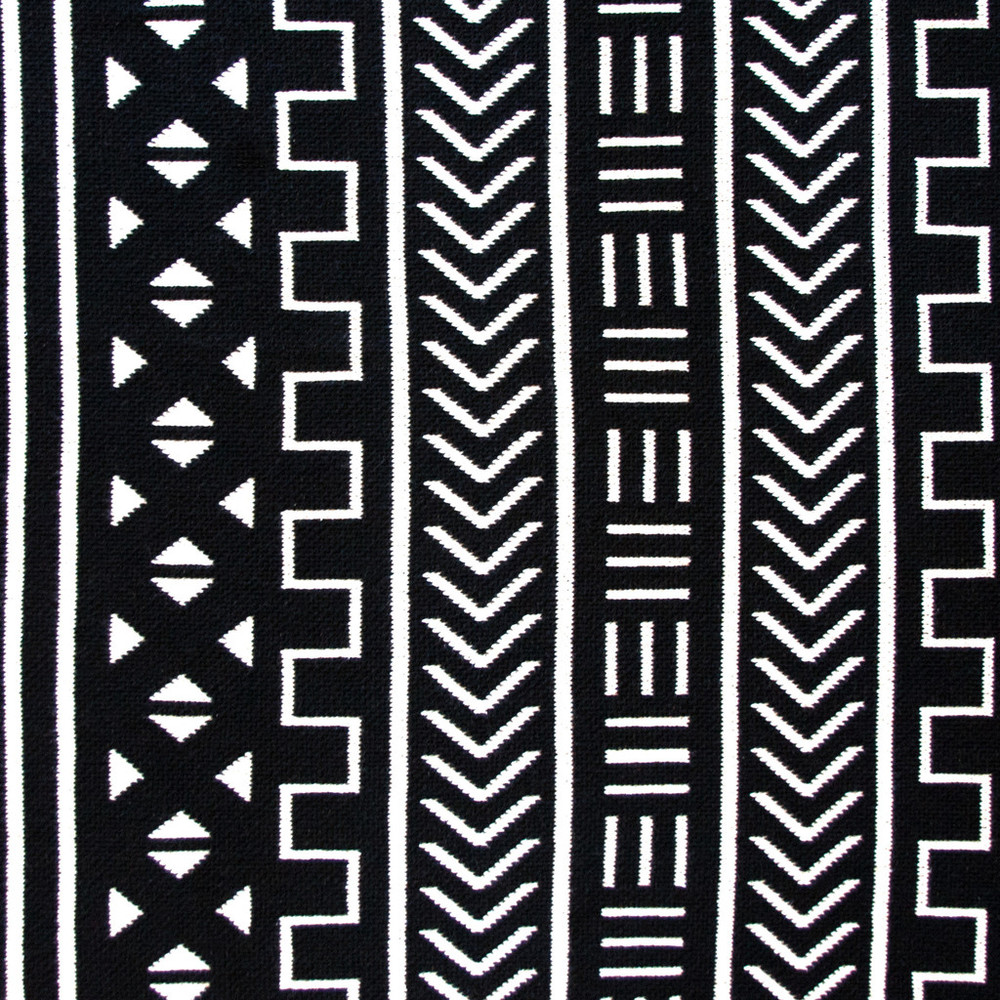 Mali Black Cotton Throw Blanket