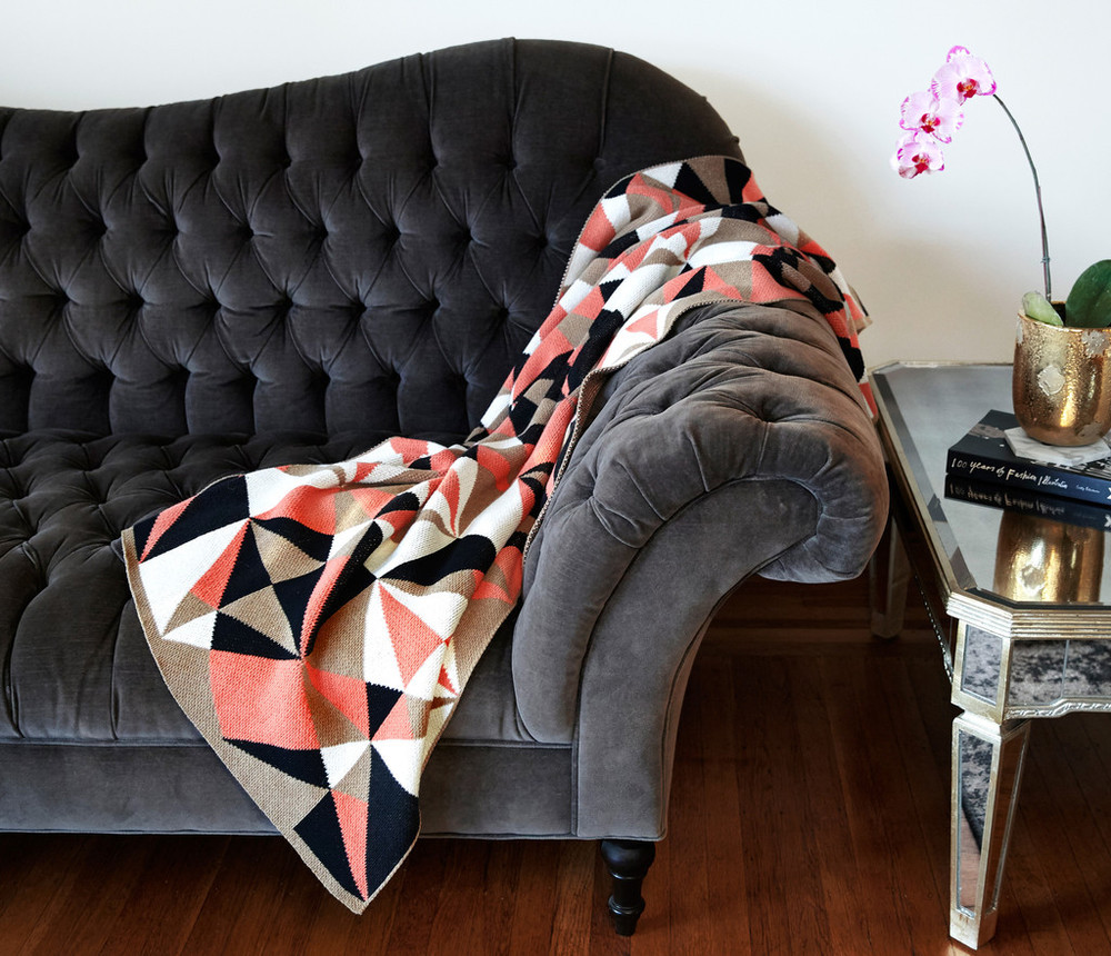 Odessa Rouge Cotton Throw Blanket