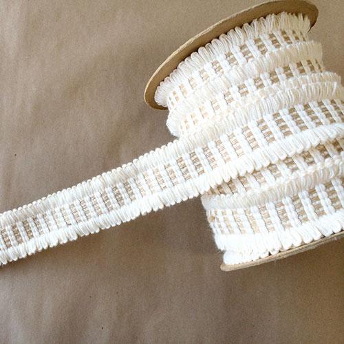 Basketweave Loop Natural Cotton Jute