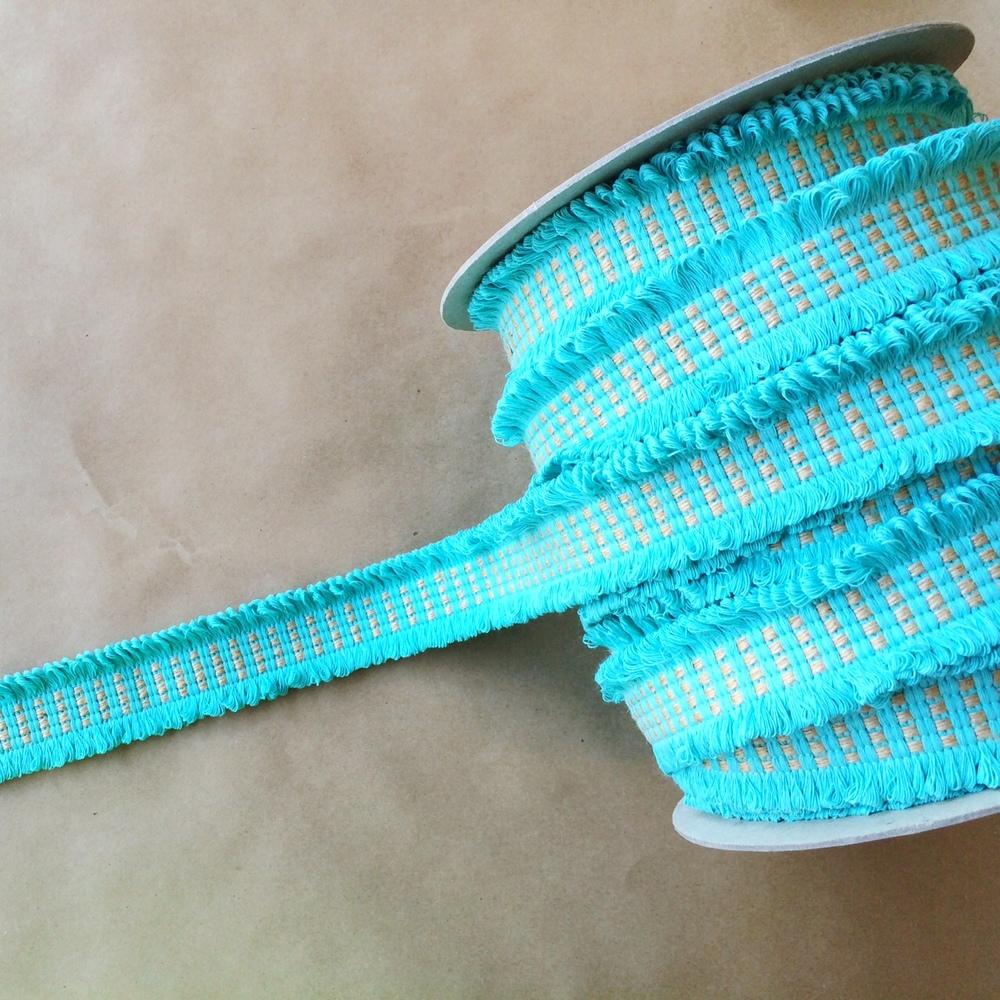 Basketweave Loop Seafoam Jute
