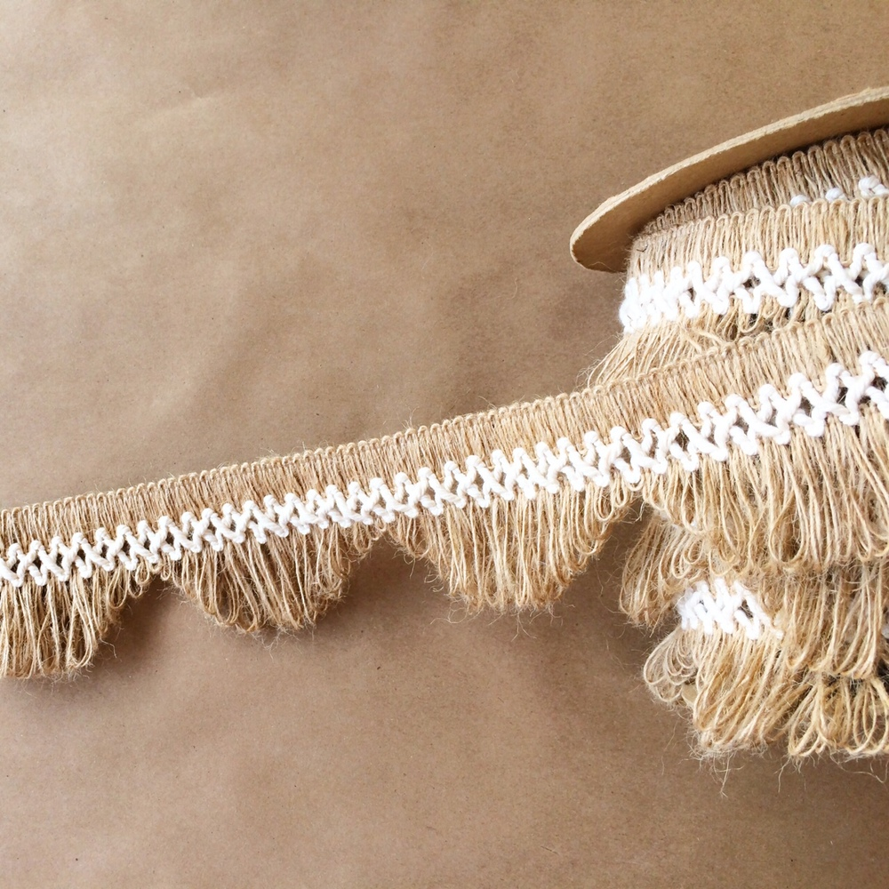 "3"" Scallop Lace Fringe Natural Cotton"