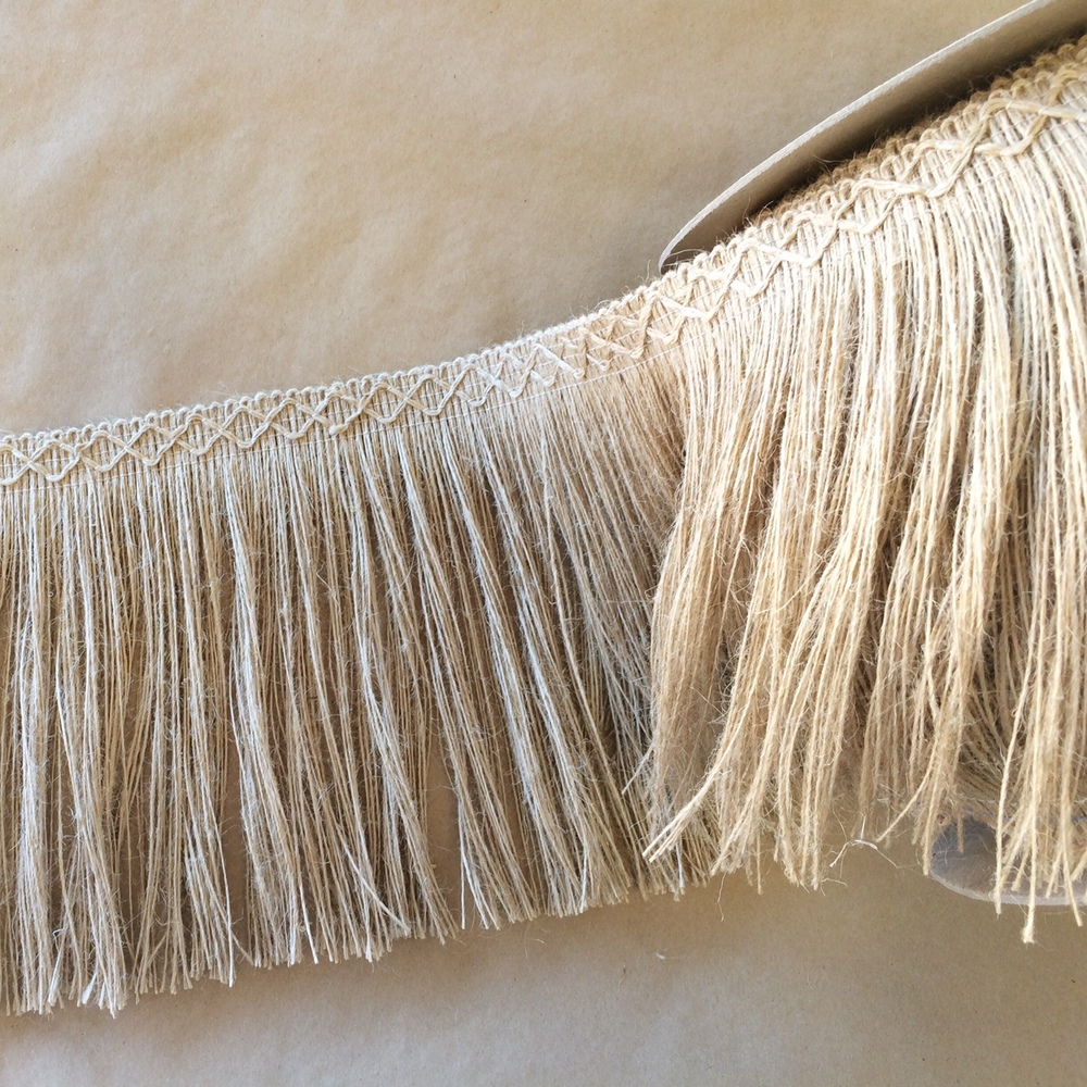 "Jute 8"" Diamond Fringe"