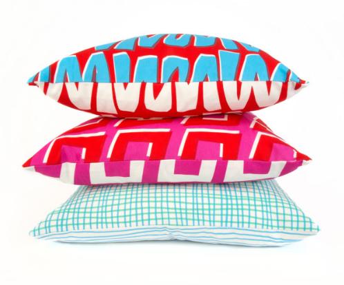 Sunny Todd Cushions in Zig Zag, Diamond, Crosshatch