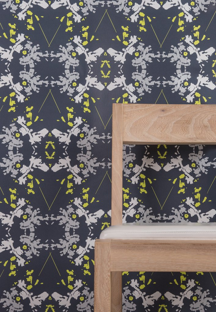 Blackish Magic Midnight Chartreuse wallpaper