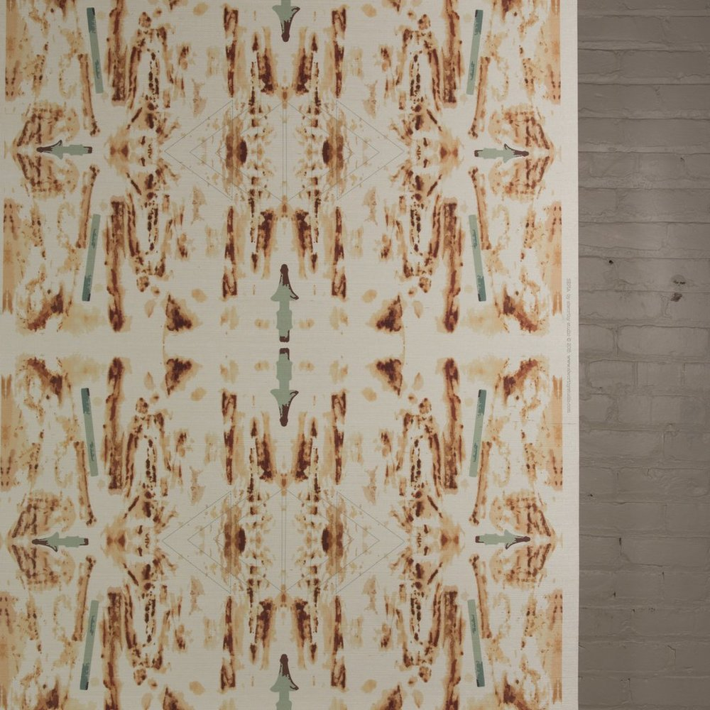 Sepia grasscloth