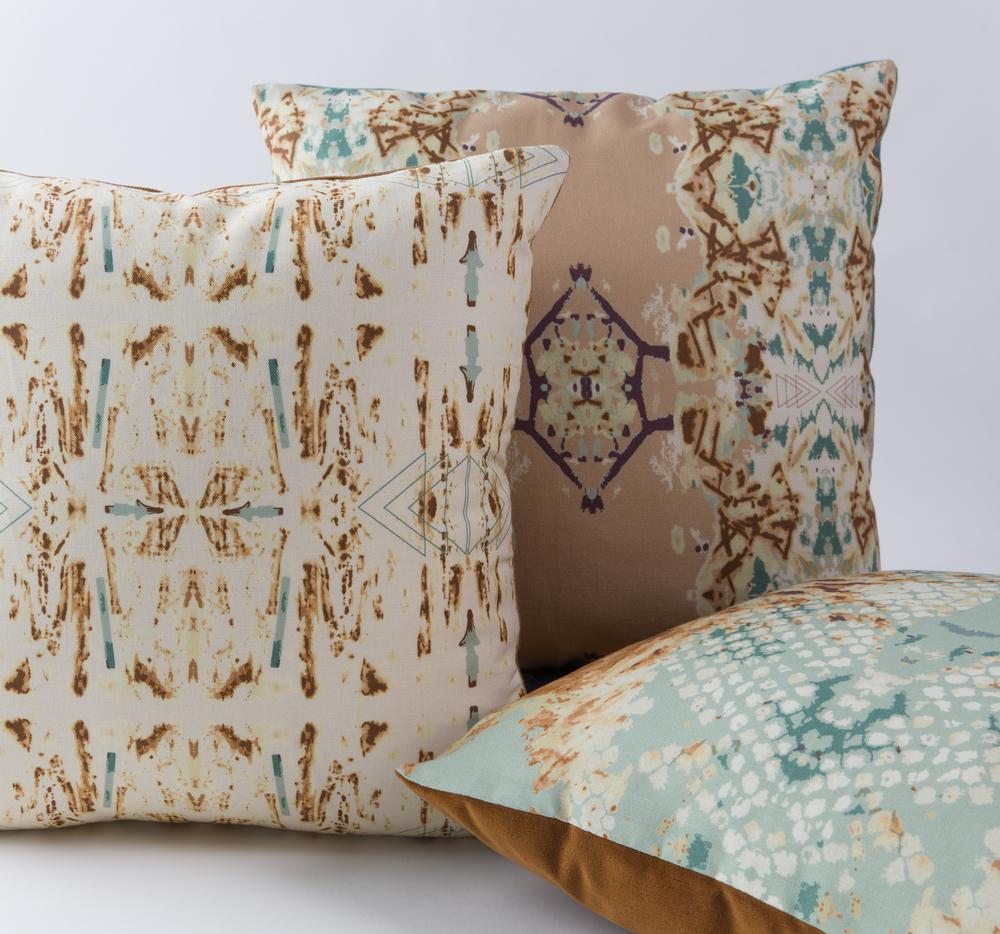 Totem, Sepia & Desert Alchemy Cushions