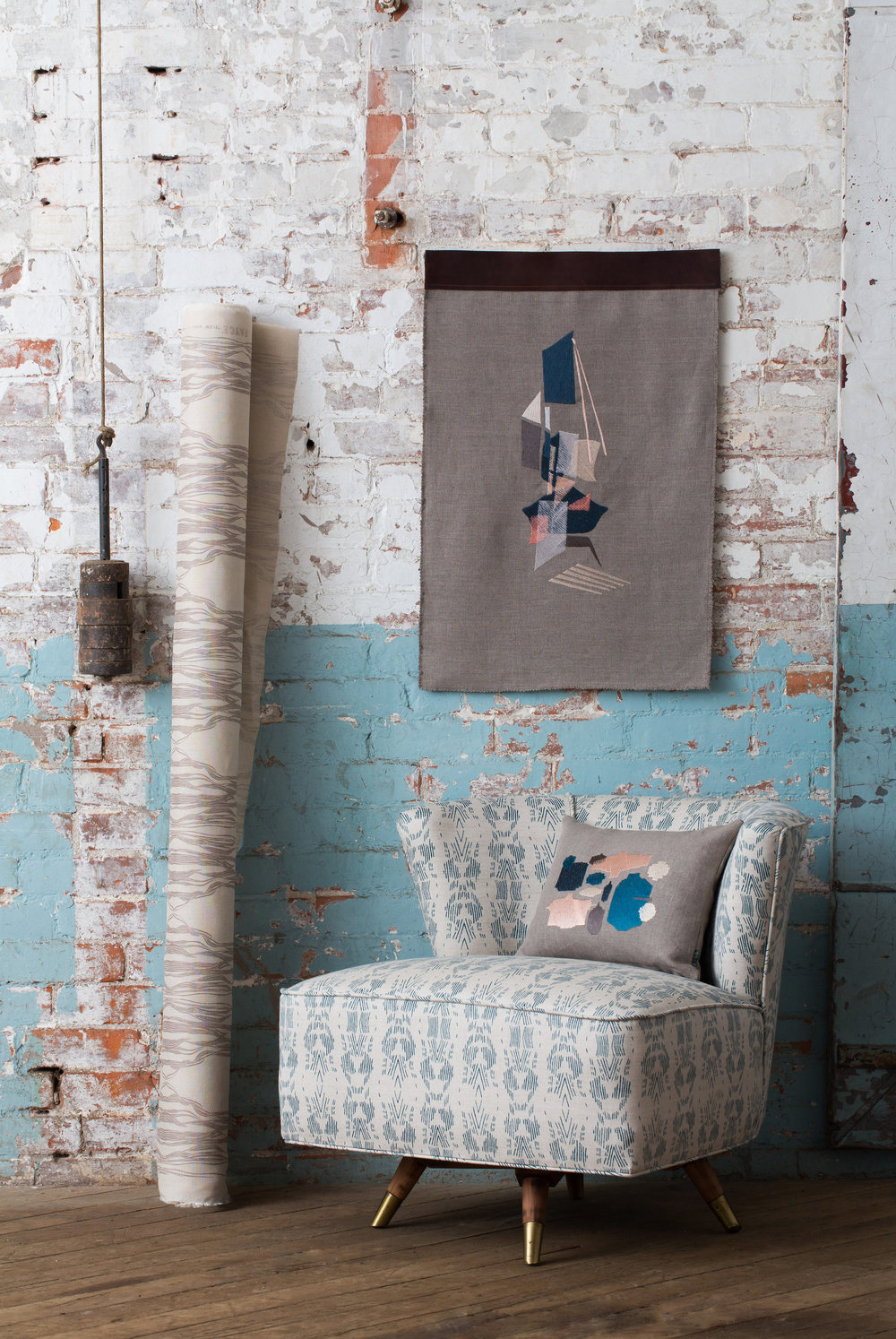 Fayce Linen Textiles, Embroidered Cushions and Wall Hangings