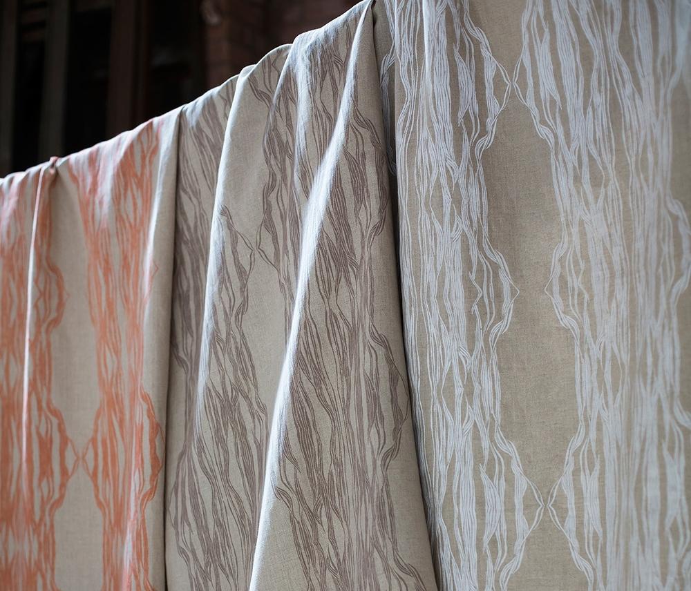 Flow Printed Linen