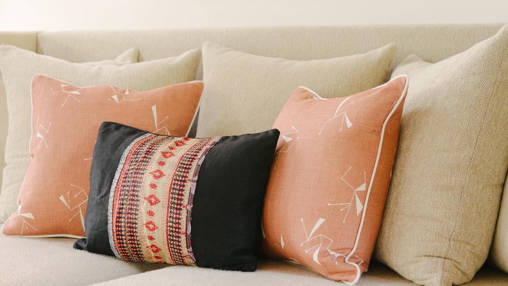 Ituri Field Rust Cushions