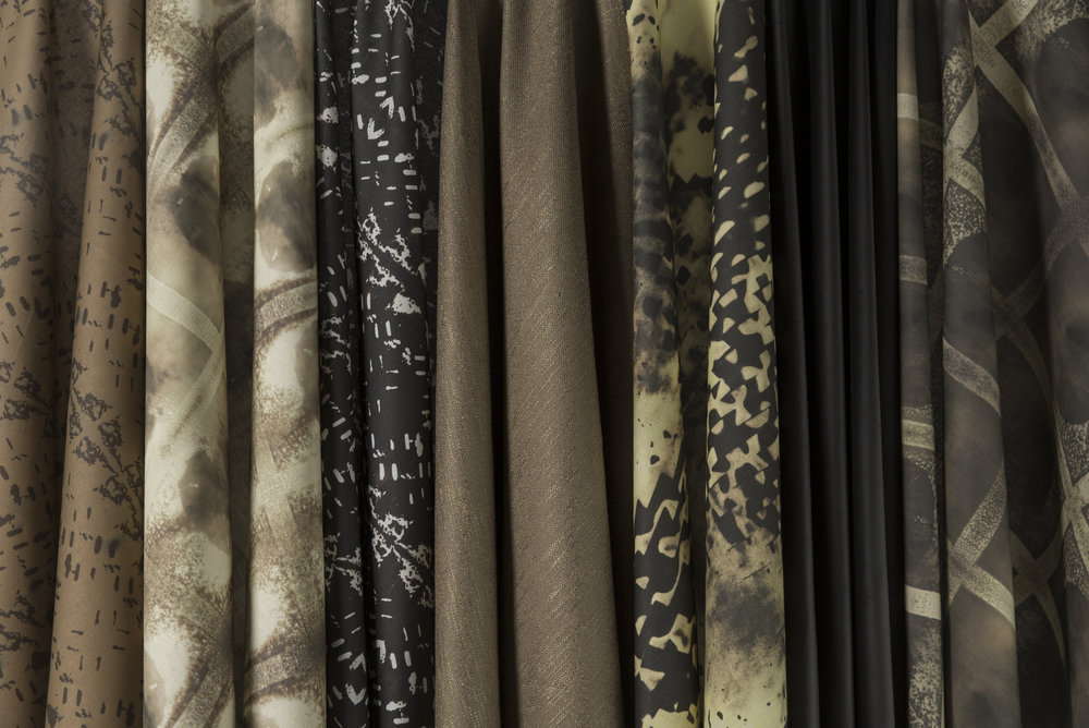 Clair Obscur Collection Fabrics Gold/Bronze/Black