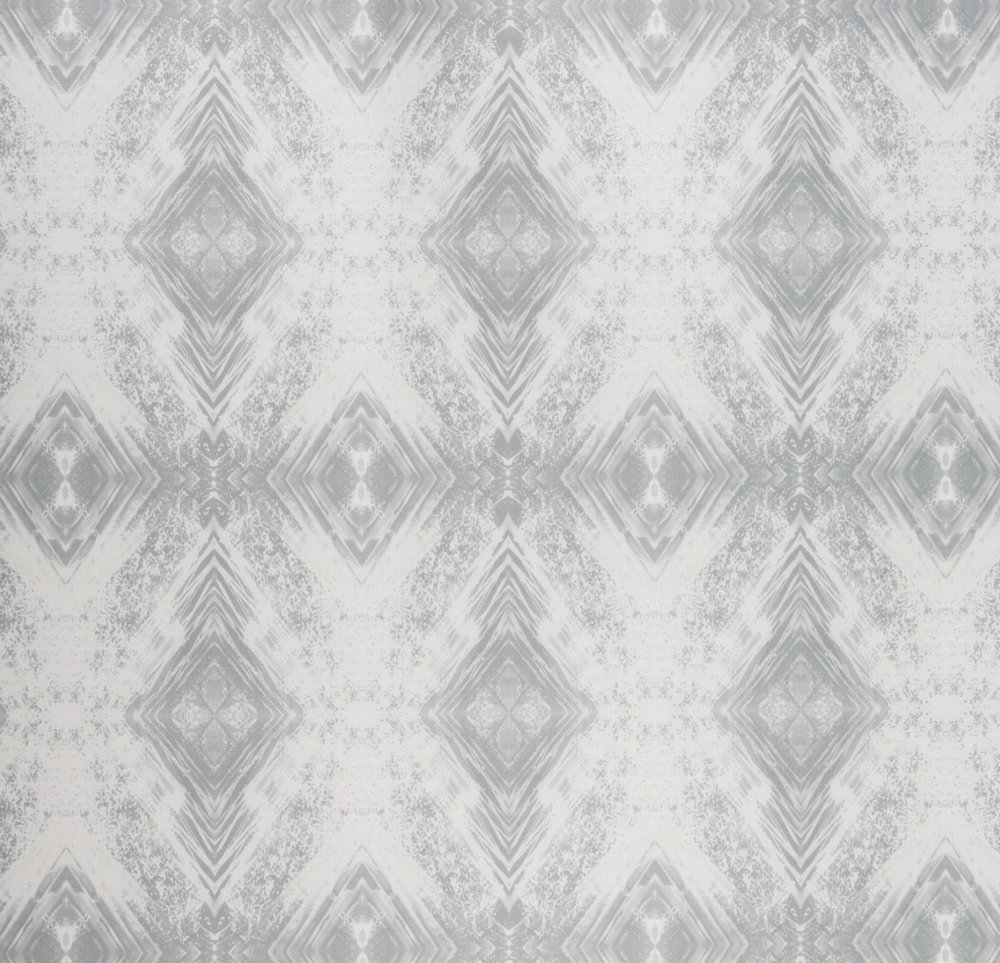 Aurora Silver Fabric Repeat