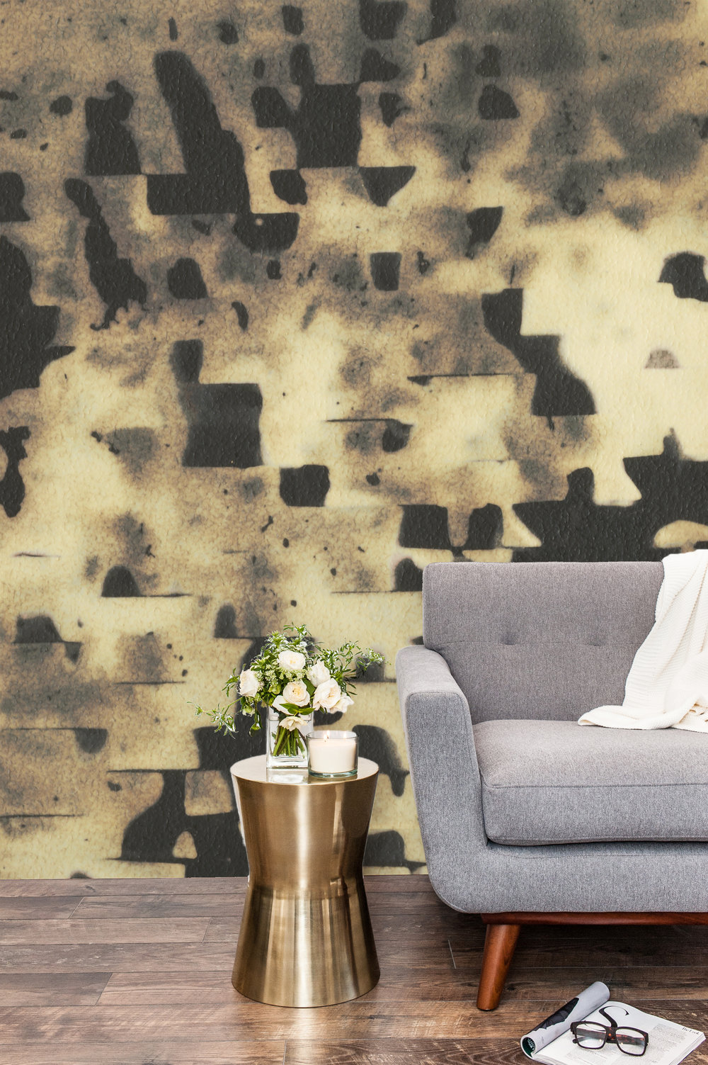 Golden Hour Mural Wallpaper Install