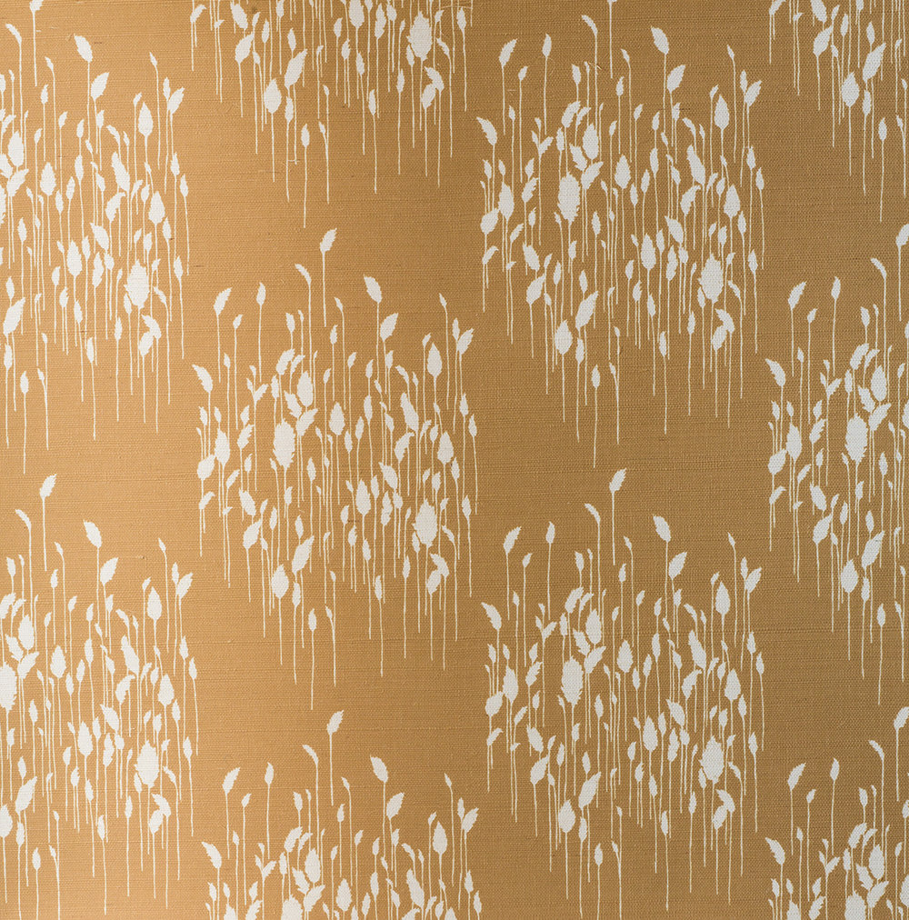 Phragmites Ochre Grasscloth Wallpaper